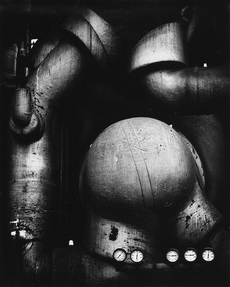 Ansel Adams, Pipes and Gauges, West Virginia, 1939