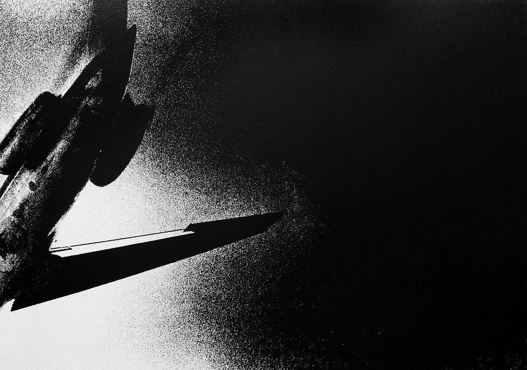 On the Road, 1969 Silkscreen on canvas 42 7/8 x 60 5/8 in. (109 x 154 cm.) Edition of 3 © Daido Moriyama