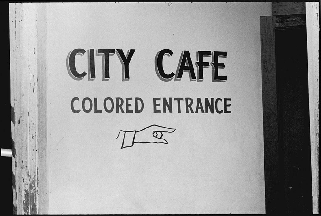 Entrance to the City Café, Selma, 1963. Danny Lyon (born 1942). Gelatin silver print, 11 x 14 inches. © Danny Lyon, New York & Magnum Photos, New York / Courtesy Edwynn Houk Gallery, New York.