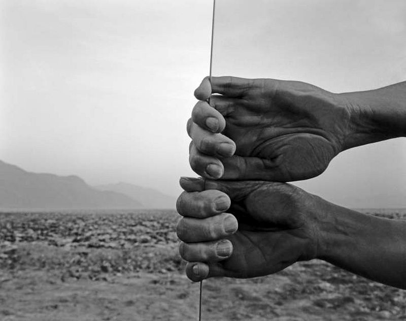Judy Dater, 'My Hands, Death Valley, Death Valley, California', 1980. Gelatin silver print, 14 1/2 x 18 1/4 in. print on 16 x 20 in. sheet. Collection of the artist. © Judy Dater