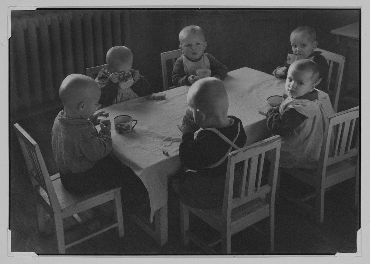Margaret Bourke-White, (American, 1904–1971), Bolshevic Babies in the Nursery: AMO Automobil Factory, 1931