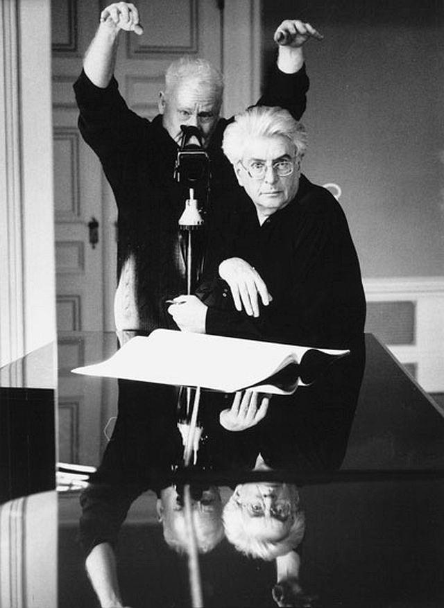 © stefan moses 'Selbst mit Frank Michael Beyer', aus der Serie SELBST IM SPIEGEL, München 1988 Courtesy Johanna Breede PHOTOKUNST