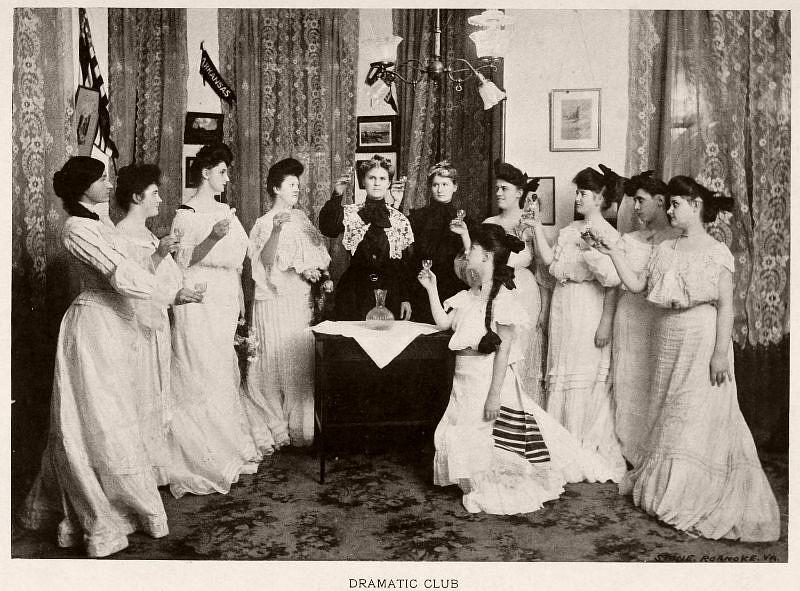 Dramatic Club, Baptist Female University, 1904