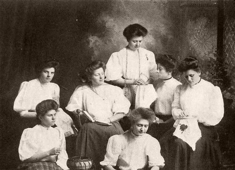 Modern Priscillas, Salem College, 1907