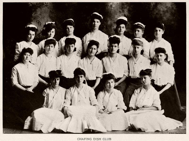 Chafing Dish Club, Baptist Female University, 1904