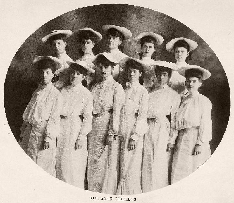The Sand Fiddlers, Baptist Female University, 1904