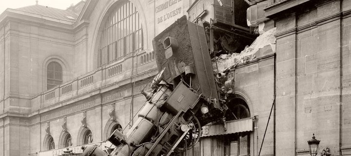 Vintage: Montparnasse Train Derailment in Paris (1895)