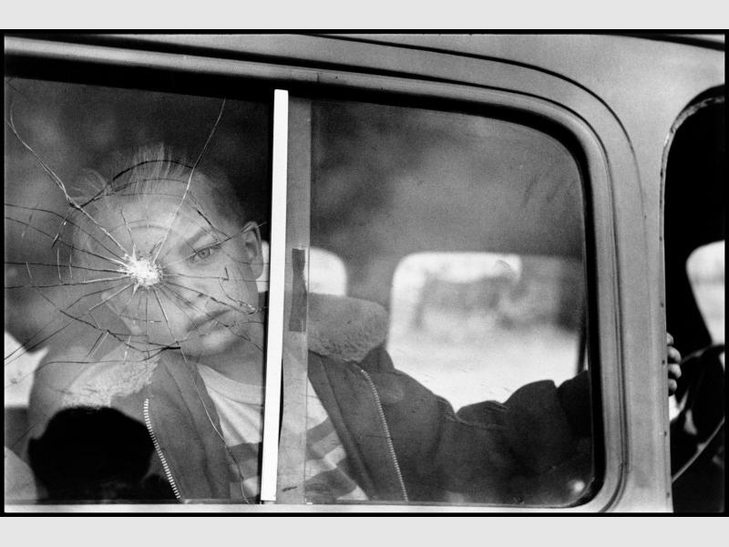 Elliott Erwitt, Cracked Glass with Boy—Colorado, 1955, gelatin silver print. University of Michigan Museum of Art, Gift of Gerald Lotenberg, 1981/2.194.2, © Elliott Erwitt / Magnum Photos
