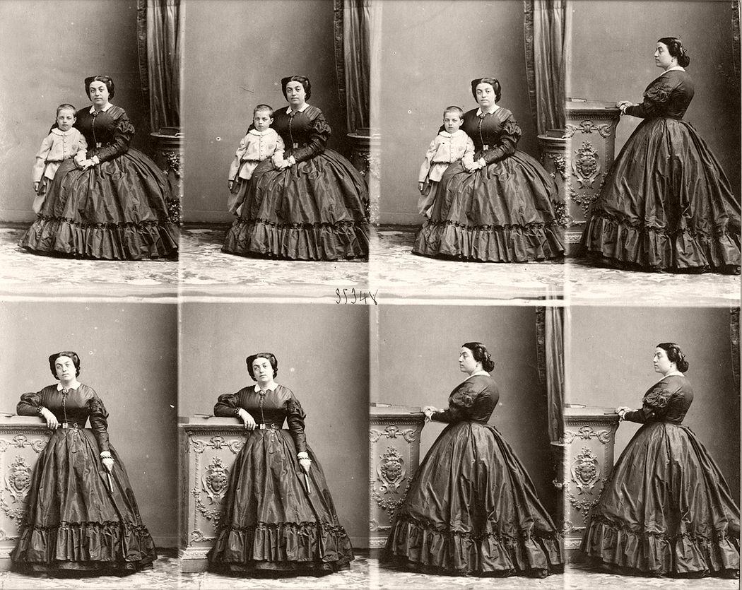 André Adolphe Eugène Disderi - Madame Sitso and Son, 1862