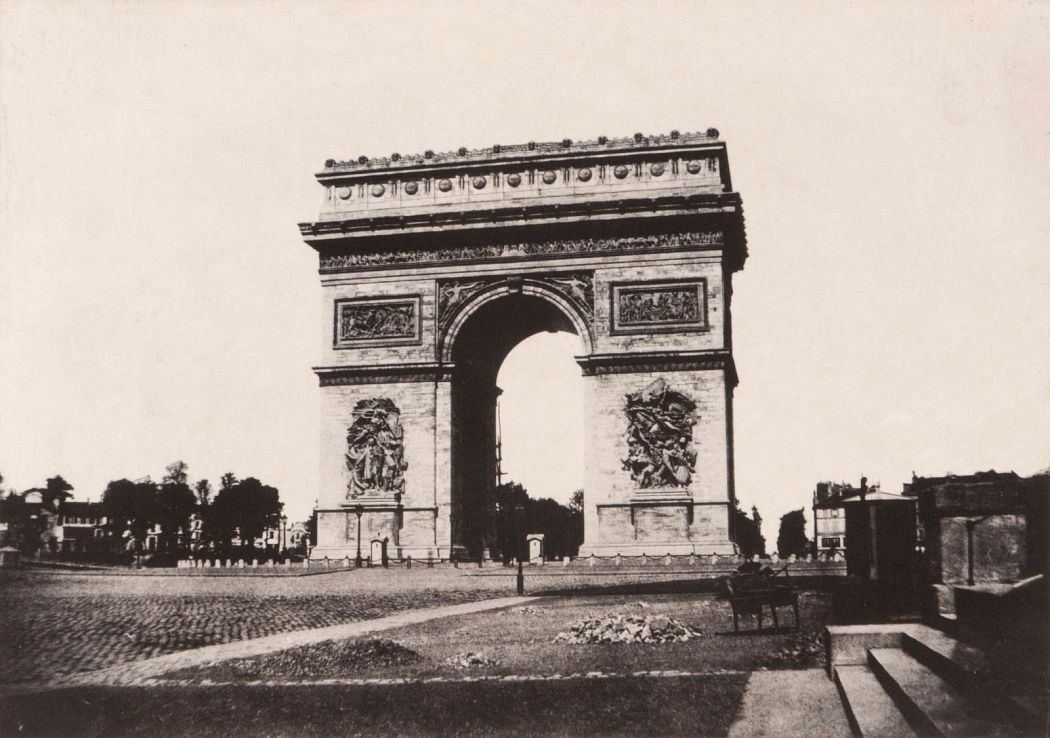 Charles Marville French, 1816–1879 Arc de Triomphe, from the album Photographic Paris c. 1852