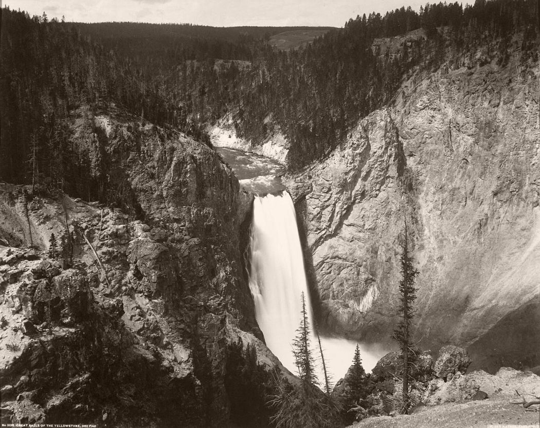 Great Falls of the Yellowstone by Frank Jay Haynes