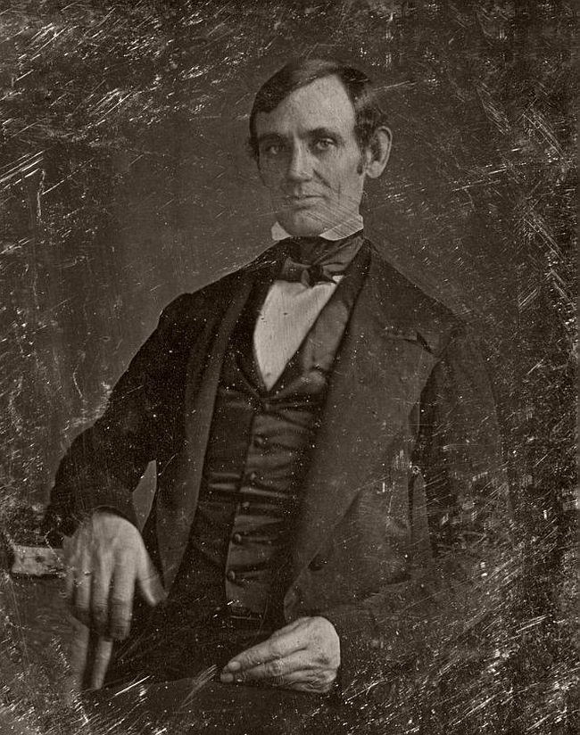 1846 or 1847 – Nicholas H. Shepherd This daguerreotype is the earliest confirmed photographic image of Abraham Lincoln. It was reportedly made in 1846 by Nicholas H. Shepherd shortly after Lincoln was elected to the United States House of Representatives. Shepherd's Daguerreotype Miniature Gallery, which he advertised in the Sangamo Journal, was located in Springfield over the drug store of J. Brookie. Shepherd also studied law at the law office of Lincoln and Herndon.