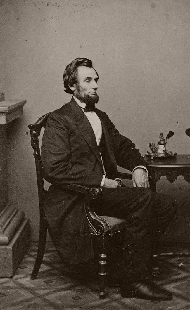 February 24, 1861 – Alexander Gardner Taken during President-elect Lincoln's first sitting in Washington, D.C., the day after his arrival by train.
