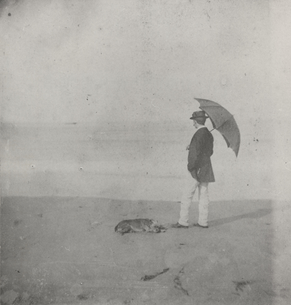 """""""Winslow Homer at Marshfield,"""" ca. 1869, albumen silver print by an unknown photographer. Bowdoin College Museum of Art, Brunswick, Maine."""