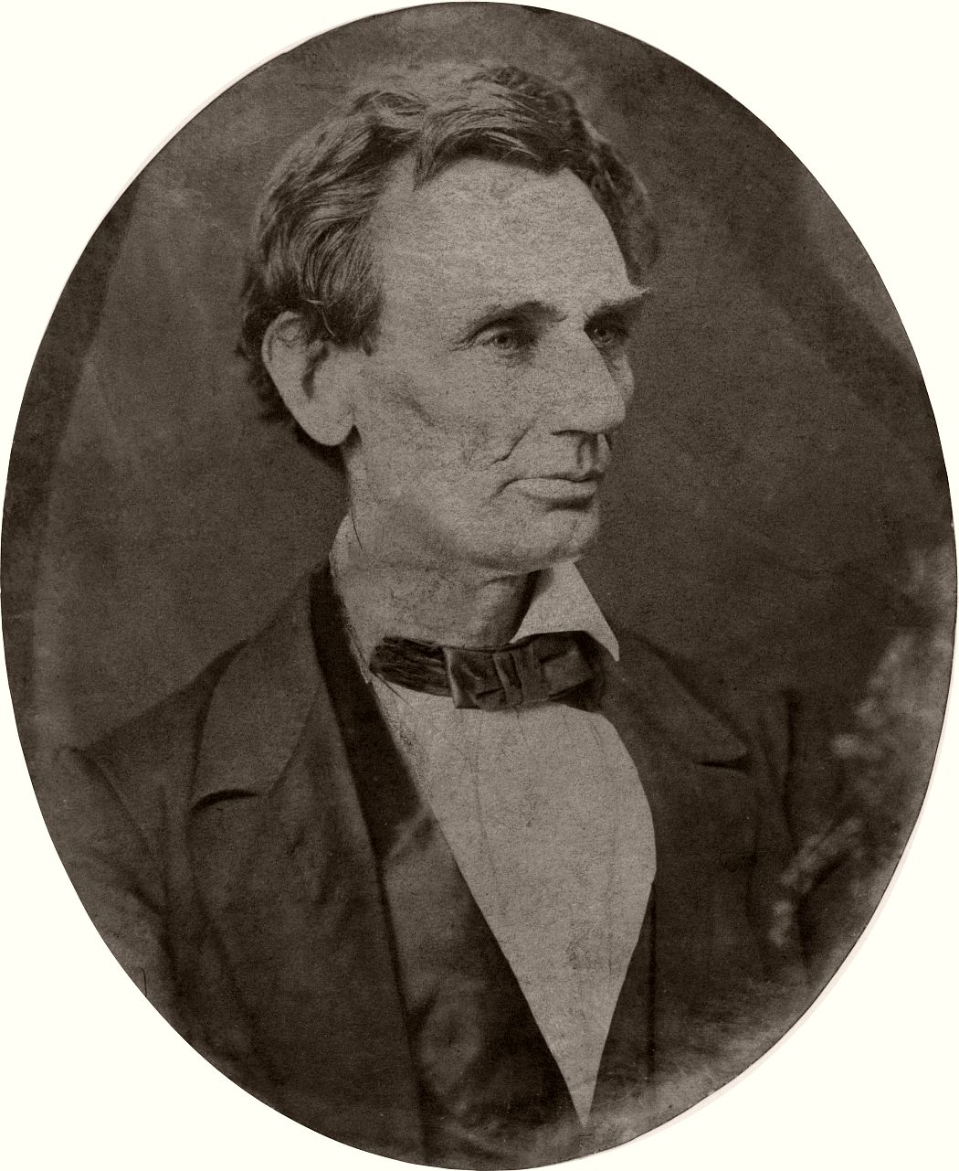 Abraham Lincoln, candidate for U.S. president. Head-and-shoulders portrait, facing right, June 3, 1860