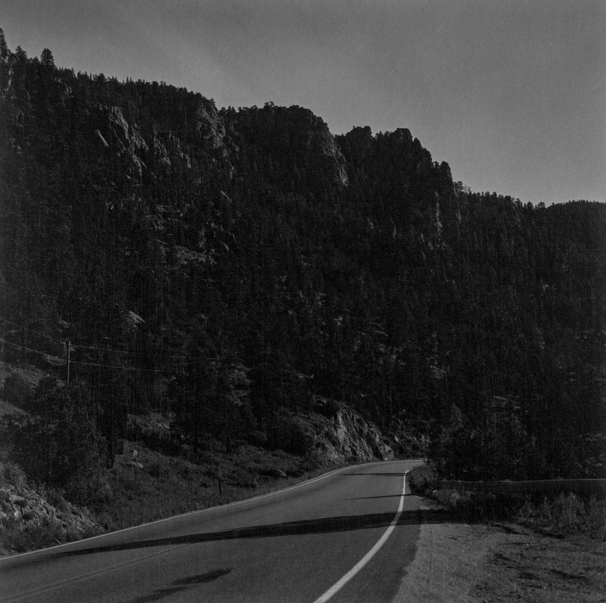 Larimer County, Colorado, 1AM, moonlight, 1981