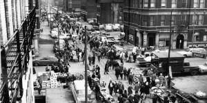 Vintage: Open-air bazaar in Chicago