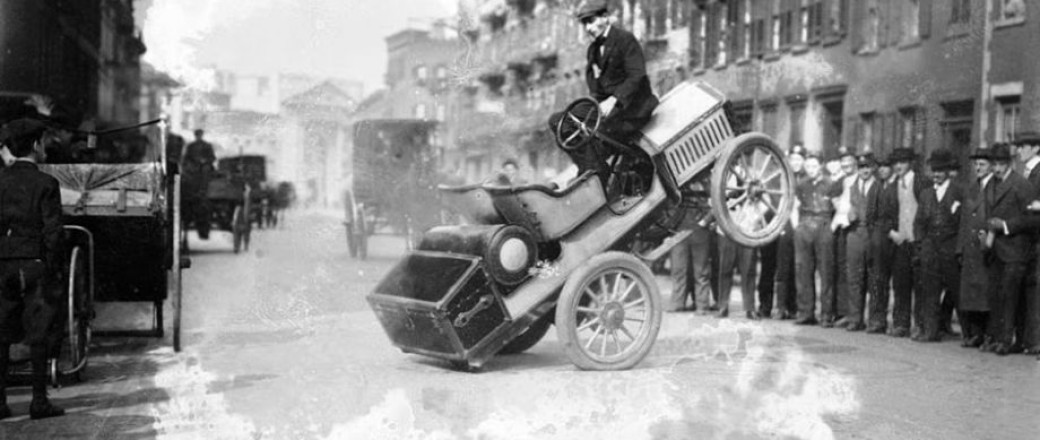 Roy Repp and his Stunt Car