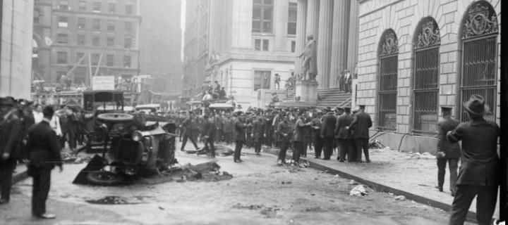 Vintage: Wall Street bombing in 1920