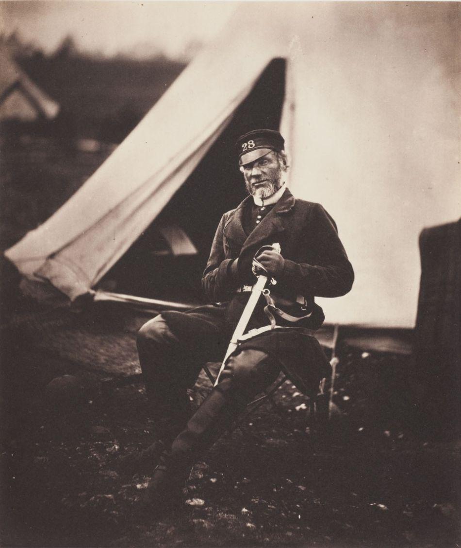 Roger Fenton, Captain Mottram Andrews, 28th Regiment (1st Staffordshire) Regiment of Foot, 1855