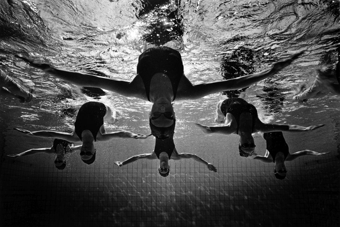 Nereids. Ukrainian synchro swimmers.