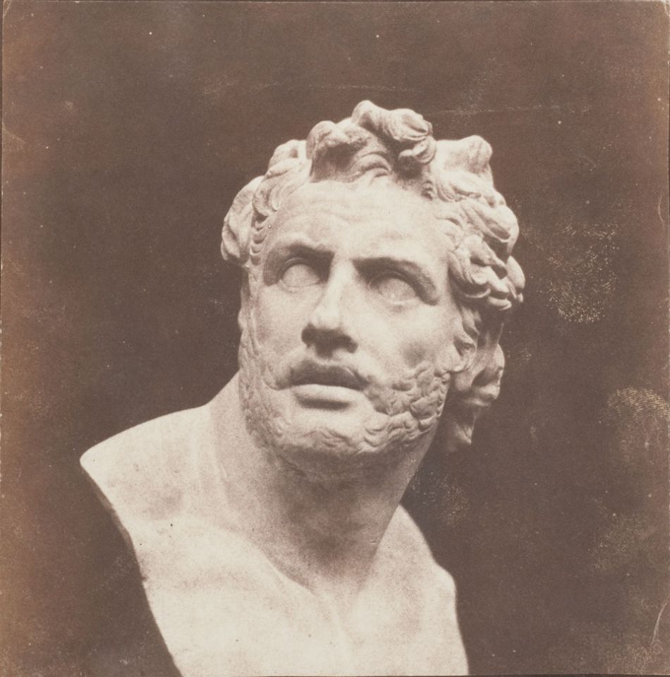 William Henry Fox Talbot, Plaster Bust of Patroclus, before February 1846