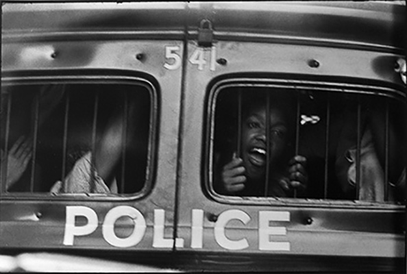 Danny Lyon Police Car Window, Atlanta, 1963