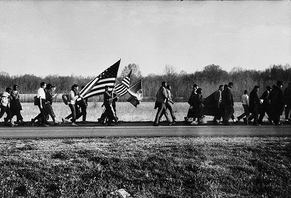 Steve Schapiro On the Road, Selma March, Alabama, 1965