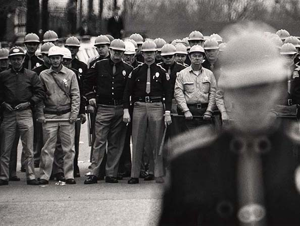 Flip Schulke The police line during Dr. Martin Luther King, Jr.'s march in Selma, Alabama, 1964