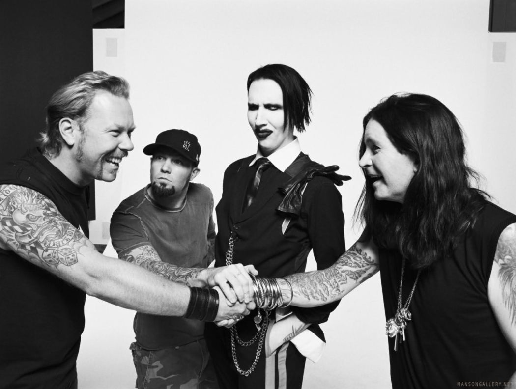 James Hetfield, Fred Durst, Marilyn Manson, Ozzy Osbourne