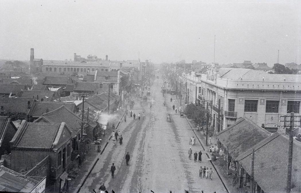 Manchuria-Northeast-Asia-in-1930s-Street in Mukden