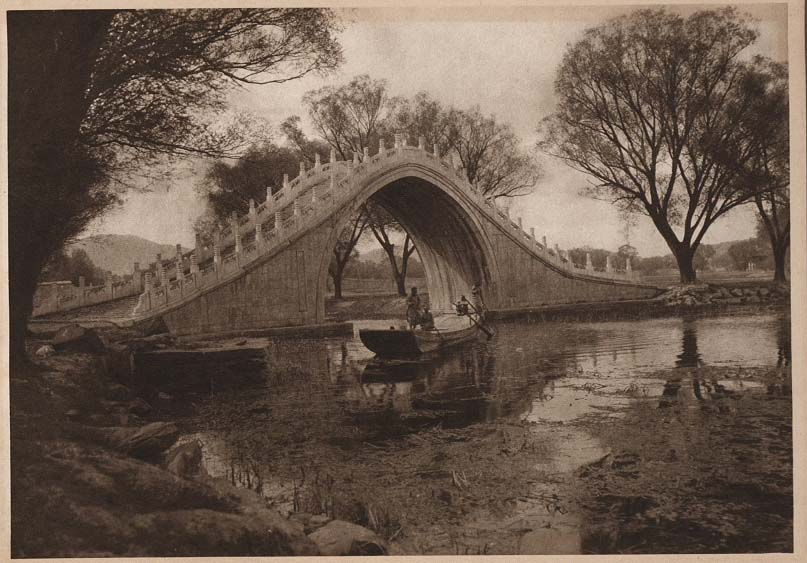 Peking-China-in-1920s-Bridge of the Curved back - Summer Palace