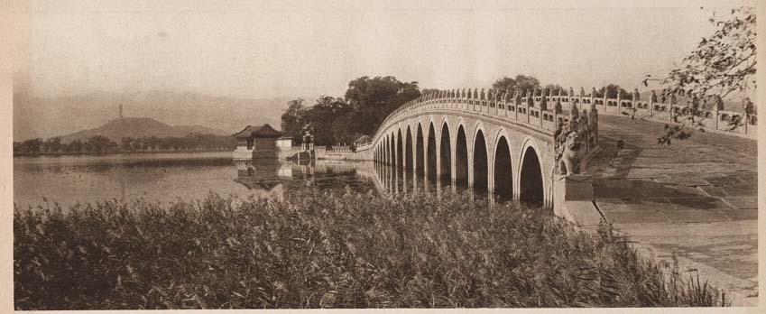 Peking-China-in-1920s-Marble Bridge - Summer Palace