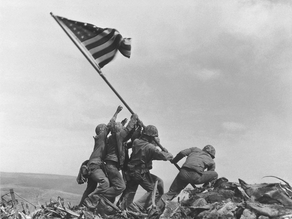 The flag raising at Iwo Jima