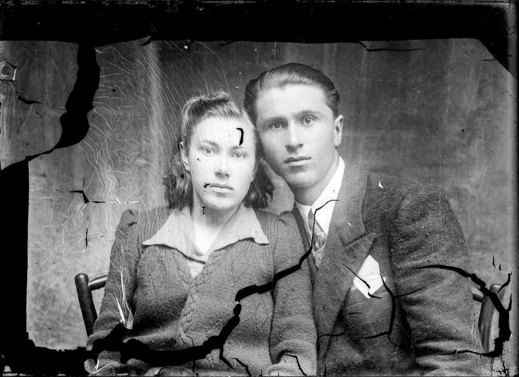 Broken Glass-Plate Portraits from Romania (1940s) / Costică Acsinte / Public Domain