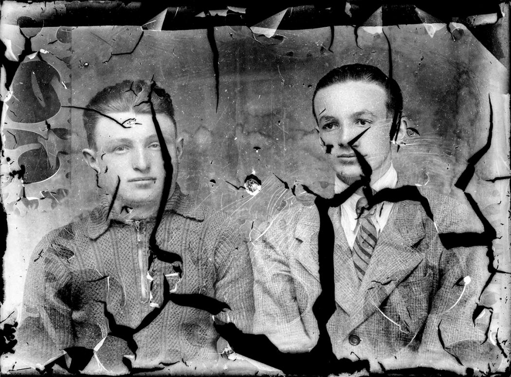 Broken Glass-Plate Portraits from Romania (1940s) / Costică Acsinte / Public Domain