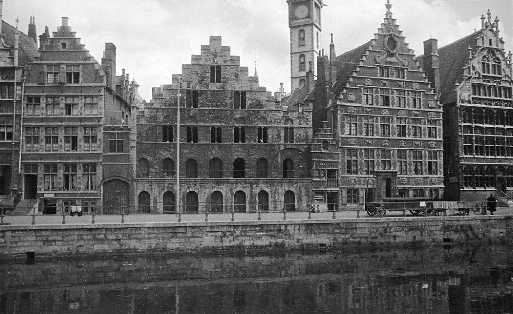 Graslei (Quai aux Herbes), Ghent, Belgium, 1934