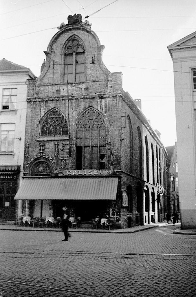Building in Bruges, Belgium, 1934