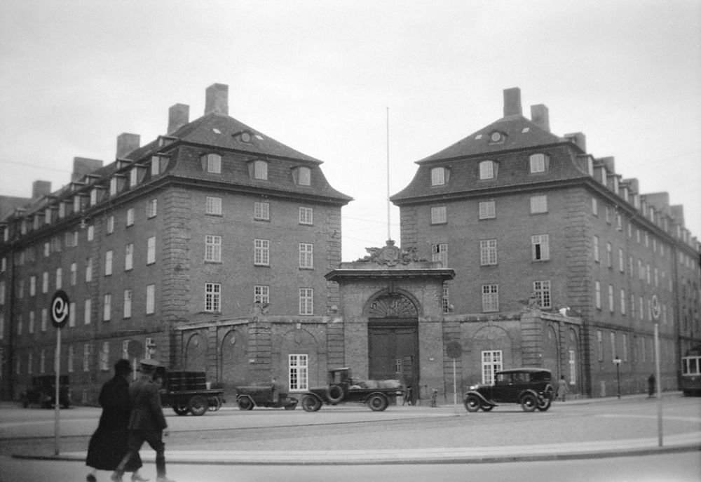 Sølvgade Barracks in Copenhagen, built in 1765-1771, designed by Nicolas-Henri Jardin. A military barrracks at Sølvgade 40, that in 1926 became headquarters for DSB, the Danish State Railways.