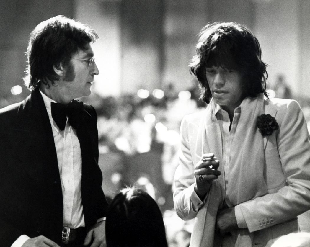 John Lennon and Mick Jagger