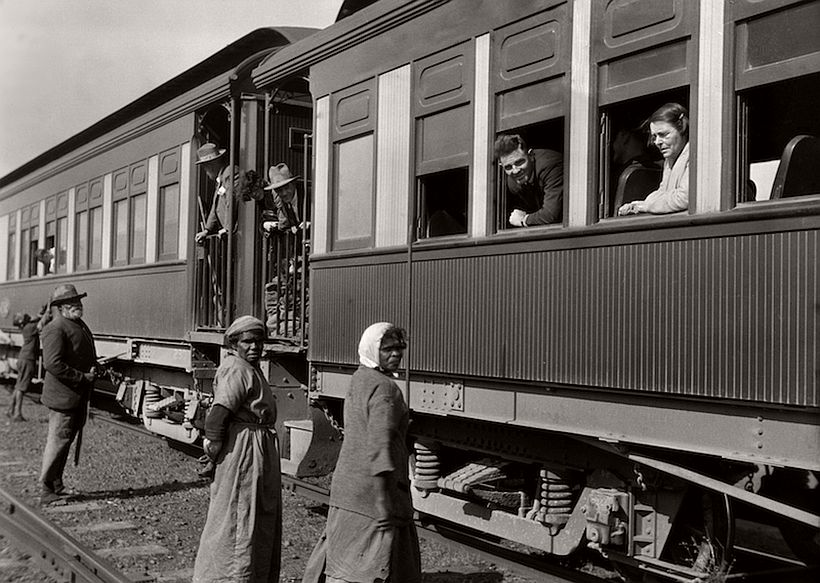 Supply train, Trans Australian Line, Central Australia, 1930, photo: Emil Otto Hoppé