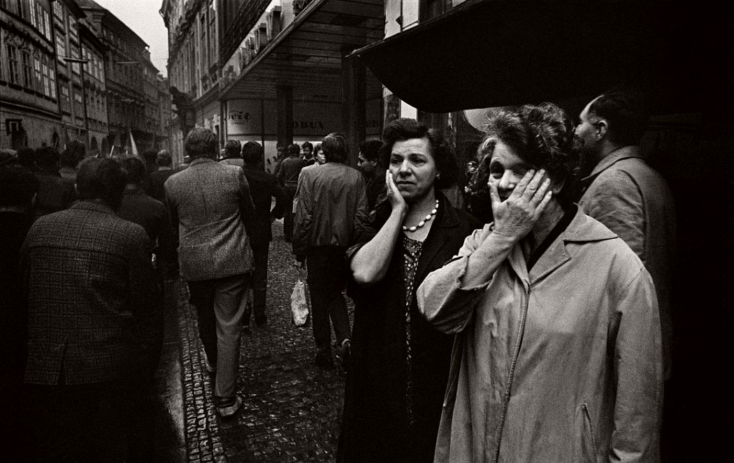 CZECHOSLOVAKIA. Prague. In the Old Town District. August 1968. Warsaw Pact troops invasion.