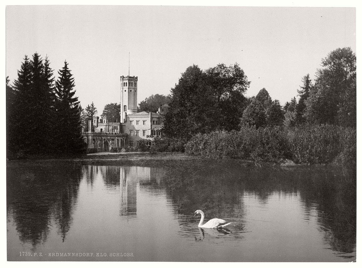 historic-bw-photo-german-Erdmannsdorf-Riesengebirge-castle-10