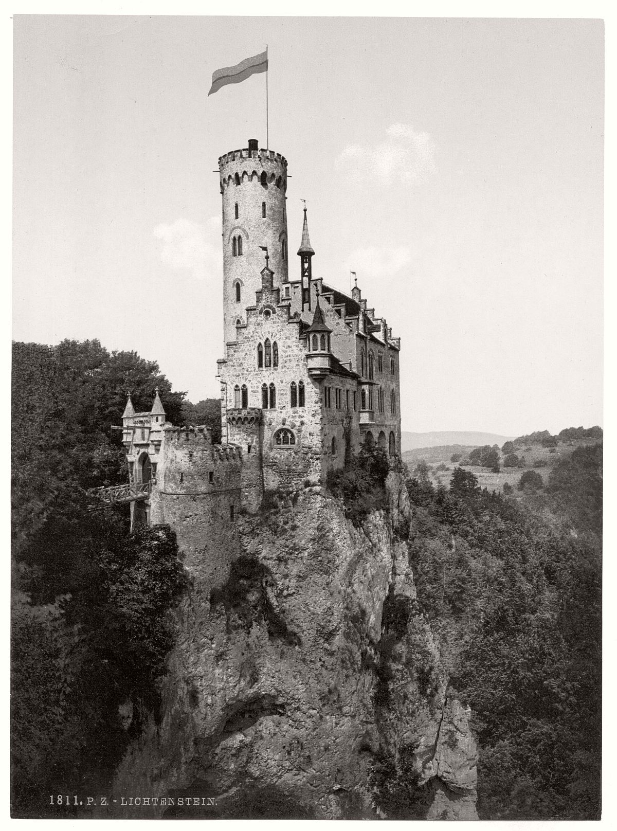 historic-bw-photo-german-Lichtenstein-Castle-16