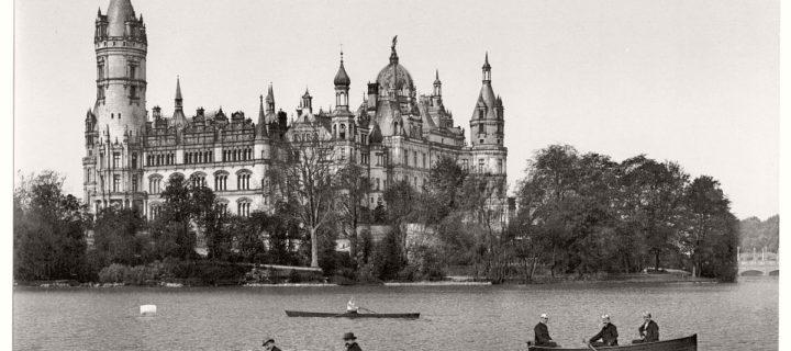 Vintage Black and White photos of German Castles