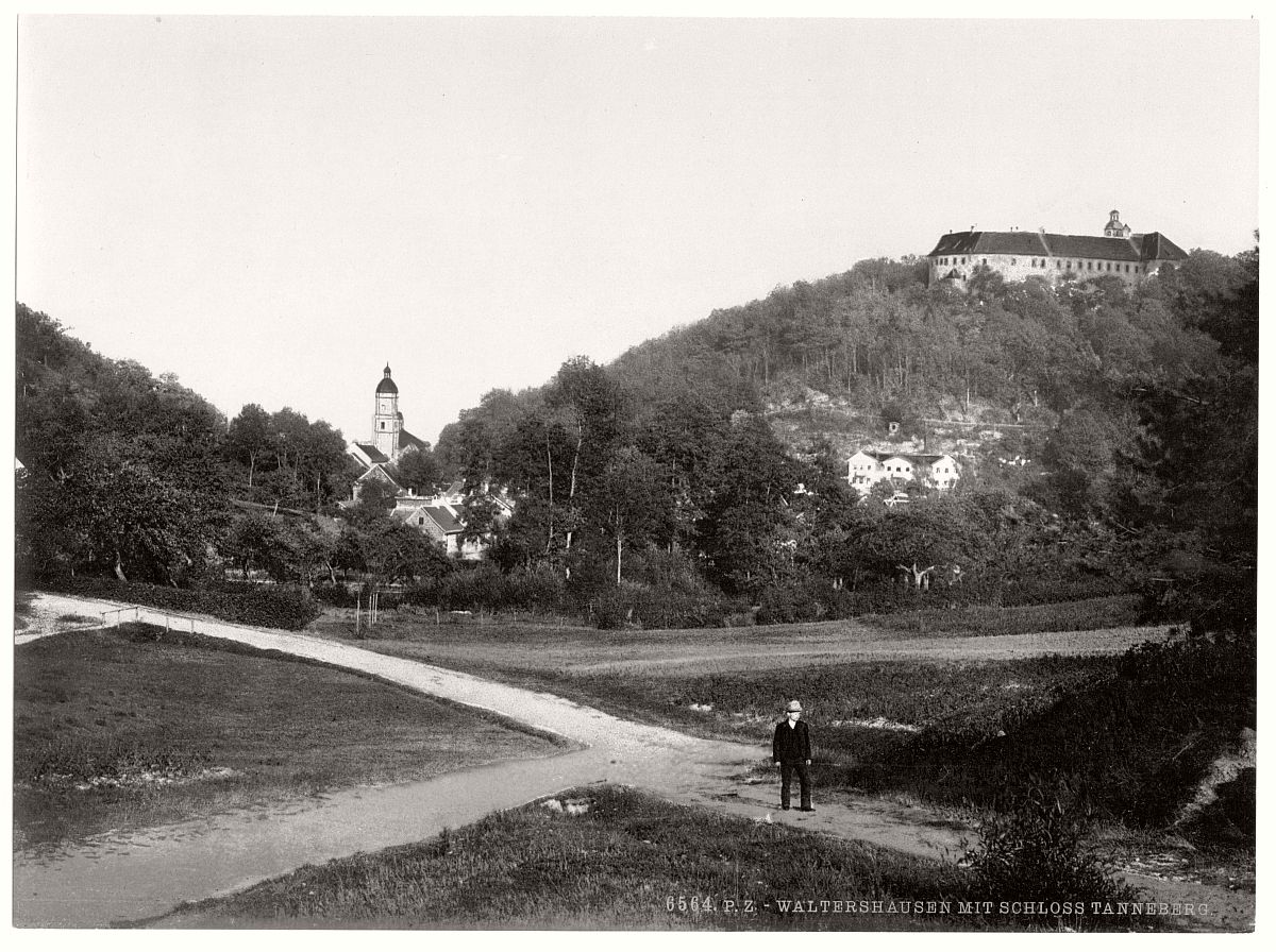 historic-bw-photo-german-Walterhausen-Tenneberg-Castle-14