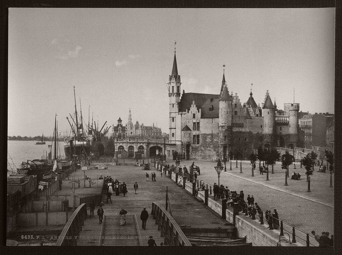 Historic B&W photos of Antwerp, Belgium (19th century ...