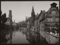 Historic B&W photos of Bruges, Belgium (19th Century)