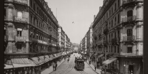 Historic B&W photos of Lyon, France in 19th Century