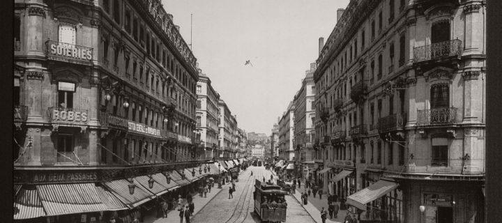 Historic B&W photos of Lyon, France in 19th Century